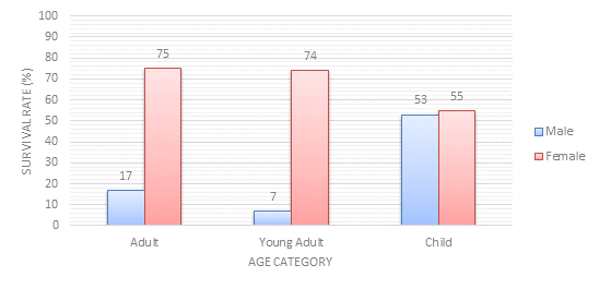 Passenger Survivability by Age Category