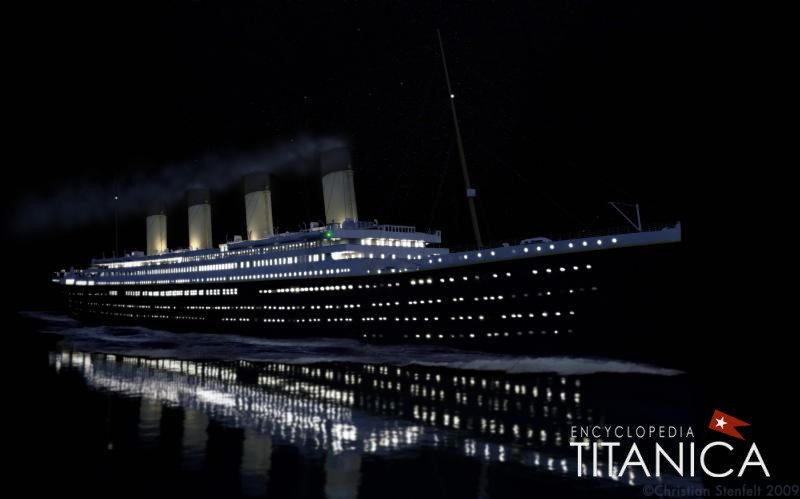 Model of the Titanic at night, © Christian Stenfelt May 5, 2012