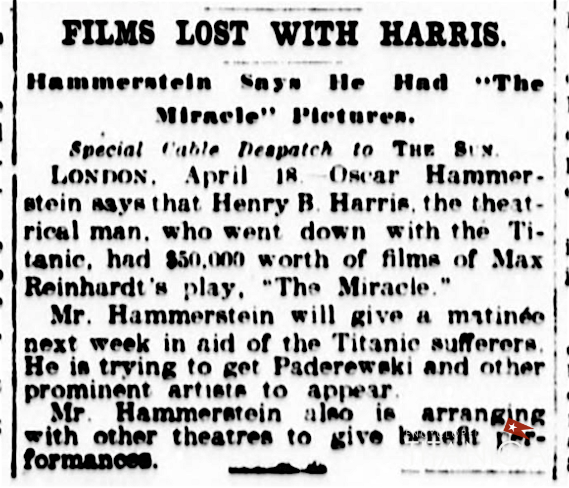 Titanic Lost films (The Sun, April 19th 1912, Page 6 Image 6).png