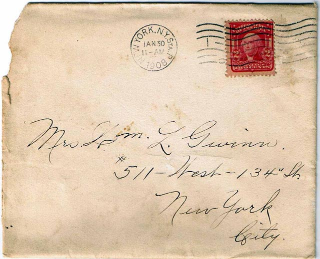 William Logan Gwinn Letters To Florence