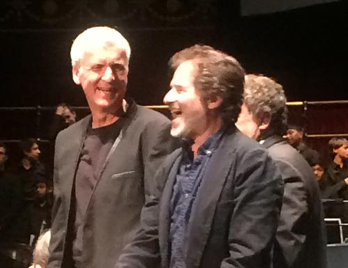 James Cameron with James Horner