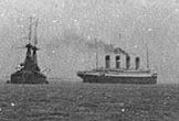 RMS OLYMPIC OFF PORTSMOUTH