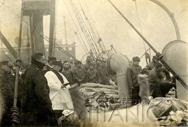 Titanic victims buried at sea shown in unique photograph