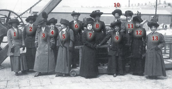 Identifying Titanic stewardesses
