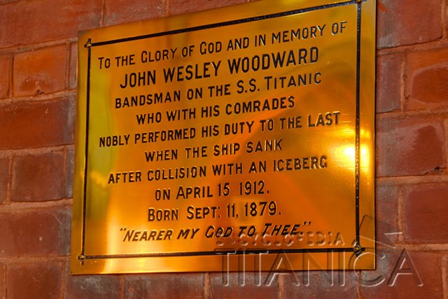 John Wesley Woodward Plaque on Lime Walk