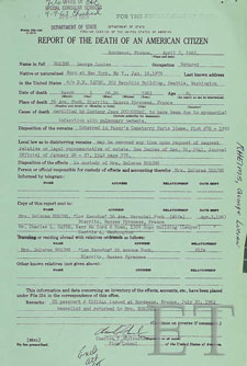 George Rheims Death Certtificate 1963