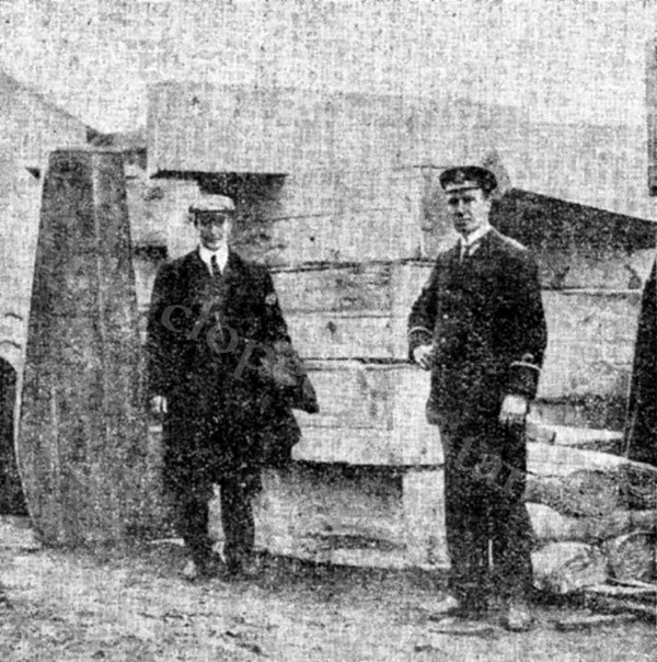 Coffins Prepared for Titanic Victims