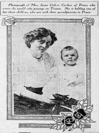 Irene Corbett and one of her children