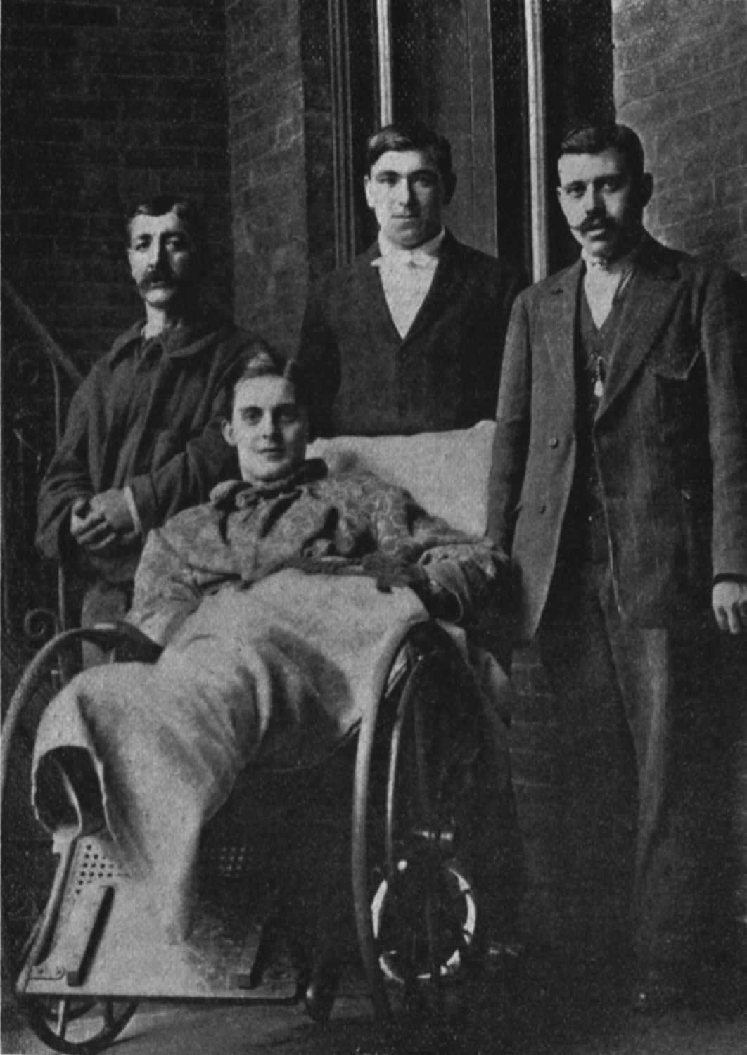 Thomas Whiteley, John Thompson and other survivors in New York