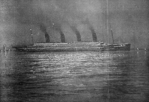 RMS Titanic at Cherbourg