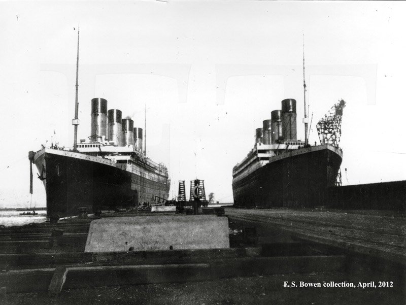 Olympic and Titanic at Belfast