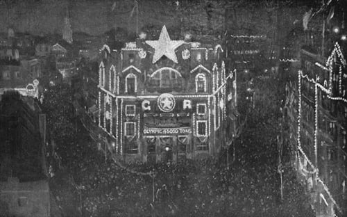White Star Line Offices at Night