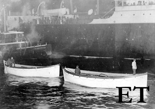 Titanic lifeboats at New York