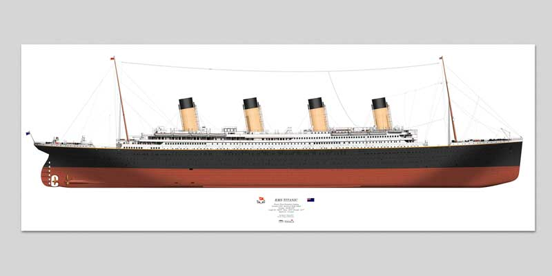 RMS Titanic in Profile