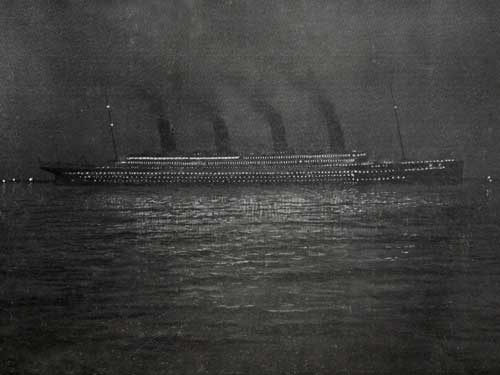 The Titanic at Cherbourg