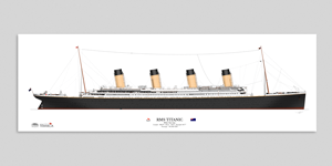 Titanic Waterline Wall Poster