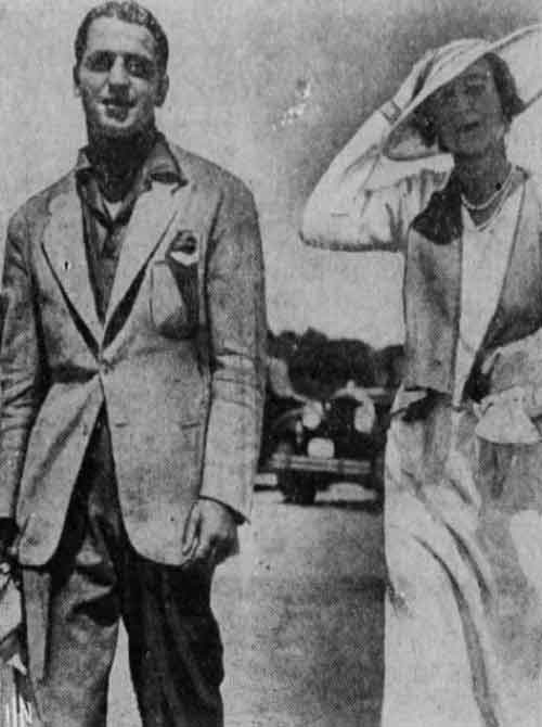 Madeleine Astor and her husband Enzo Fiermonte at Bailey's Beach