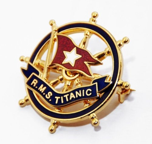 Titanic : Gold and Enamel Pin Badge