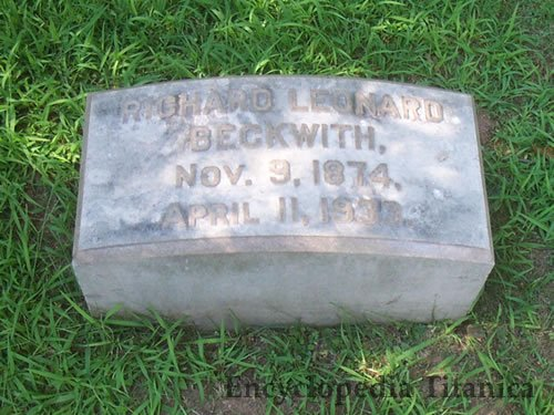 Beckwith Grave Marker