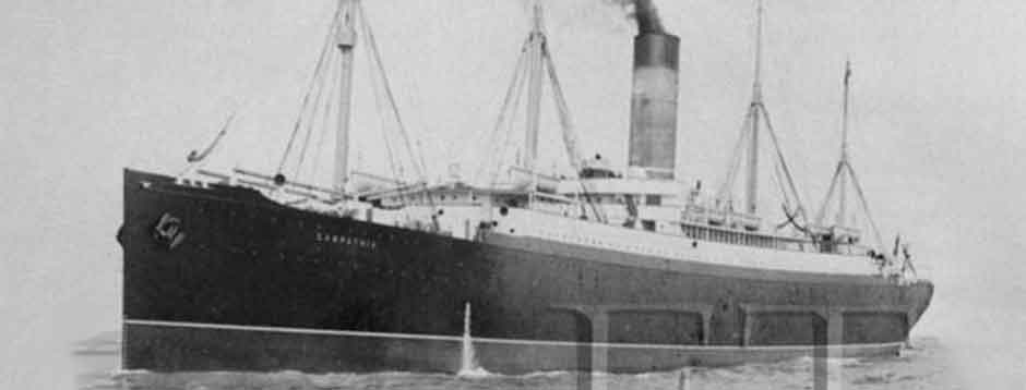 RMS Carpathia : Out of the dark of the dawn