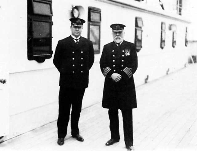 Captain Smith with Purser McElroy