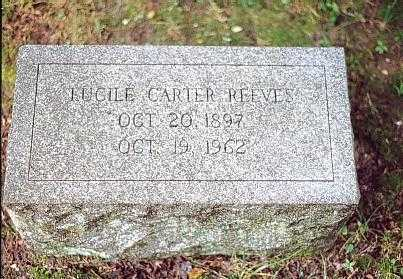 Grave of Lucile Carter