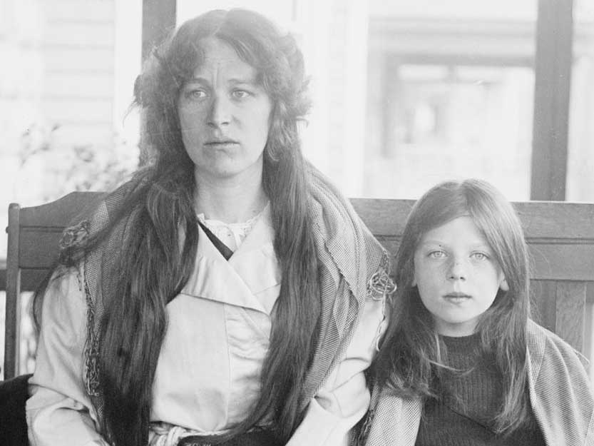Survivor Charlotte Collyer and her daughter Marjorie