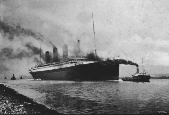 Real footage of the Titanic
