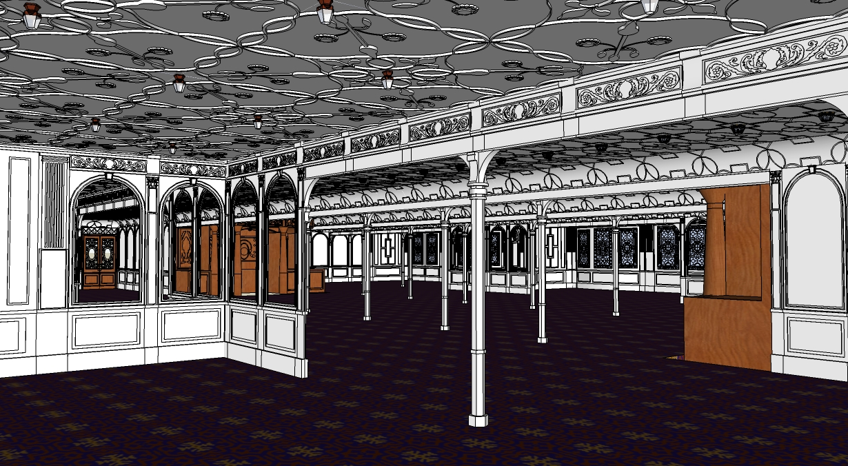 sketchup 3d 1 class dining room encyclopedia titanica message board view image