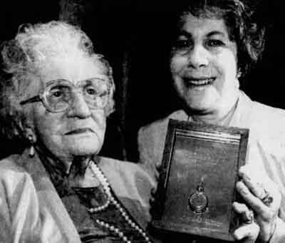 Edith Haisman with watch and daughter Dorothy