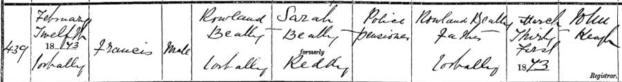 Birth record