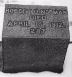 Grave of Robert D. Norman