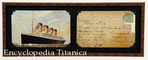 Postcard from Onboard the Titanic