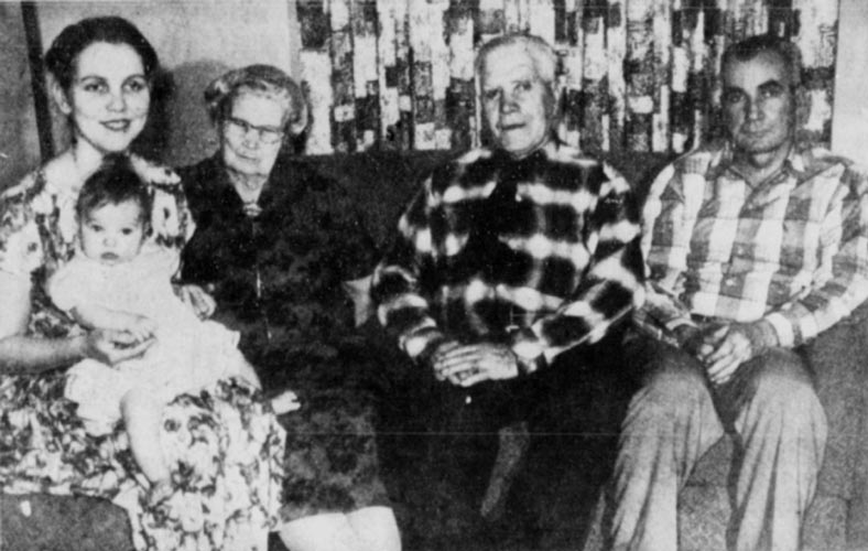 Gunnar Tenglin with his family in 1972
