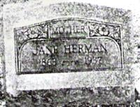 Jane Herman Gravestone