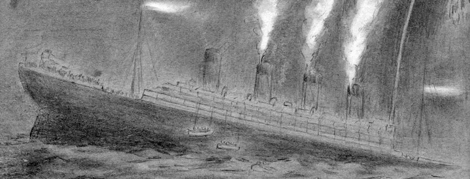 Sketch of Titanic Sinking