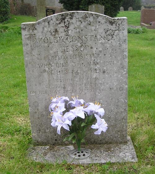 Violet Jessop's Grave at Hartest, Suffolk