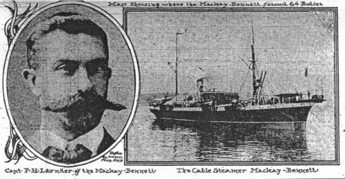 Capt. F. H. Larnder of the Mackay-Bennett/The Cable Steamer Mackay Bennett