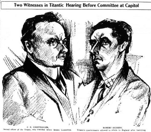 Two Witnesses in Titanic Hearing Before Committee at Capitol