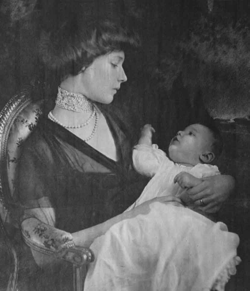 Madeleine Astor and her baby son