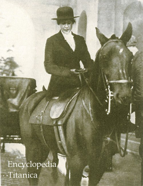 Mrs. Astor riding in Central Park