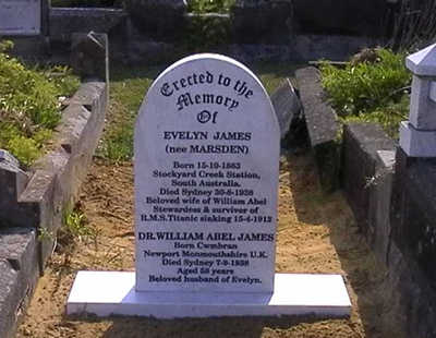 Grave of Evelyn Marsden