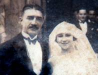 Paul Maugé and his first wife on their wedding day.