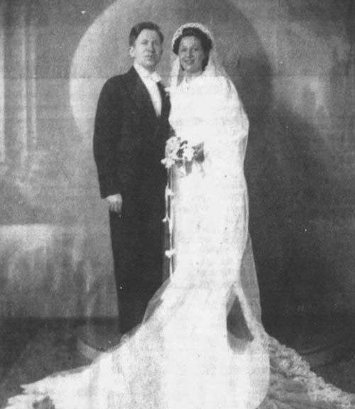 Meyer and Henrietta on their wedding day
