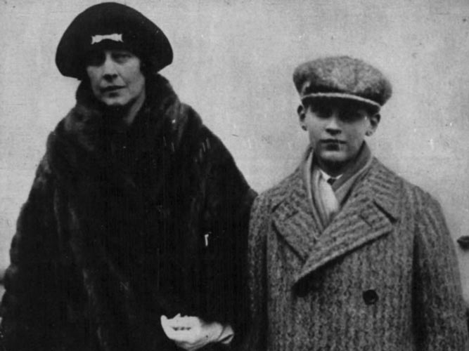 Madeleine Astor and son John in 1926