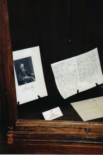 Charles Hays' photo and letters at The Chateau Laurier Hotel, Ottawa, Ontario, Canada