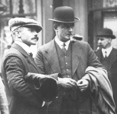 Herbert Pitman and Charles Lightoller at the British Inquiry