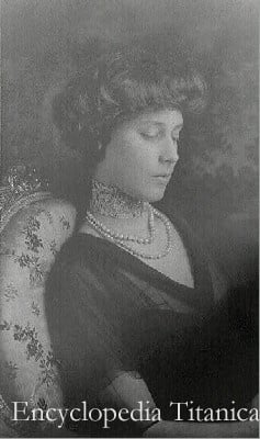 Portrait of Madeleine Force Astor in mourning