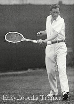 Richard Norris Williams II on the tennis court