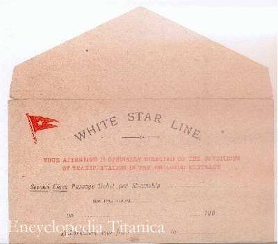 Genuine White Star Line envelope saved by Mme Laroche